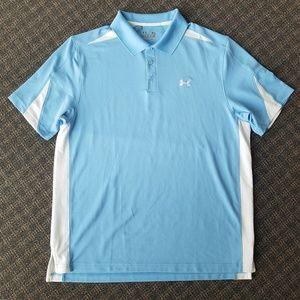 Under Armour Heat Gear Loose Polo Golf Blue XL